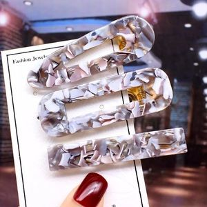 Trendy Opalescent Acrylic Hair Pin Barrettes